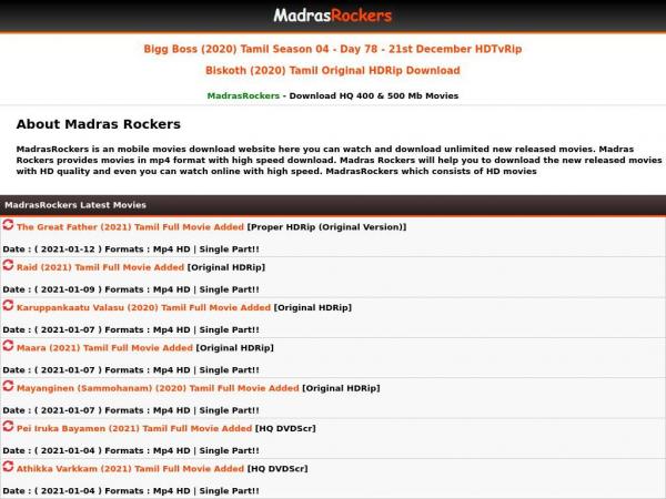 madrasrockers.net